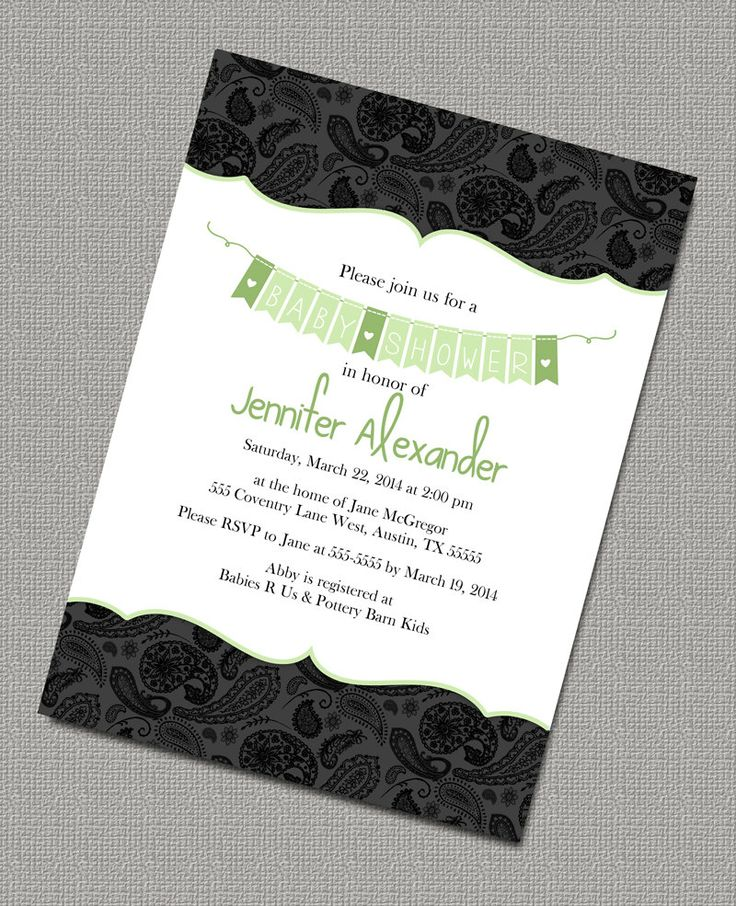 clever baby shower invitation wording%0A Custom Gender Neutral Baby Shower Invite by alittletreasure