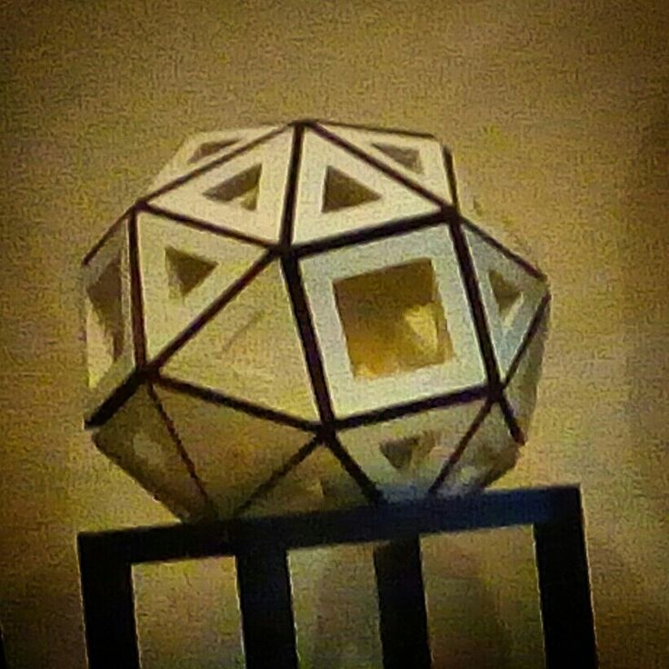 """FROM PAPER TO WOOD  Polyhedron # 17 - SNUB CUBE Designed by Leo R. Natividad for Lights & Folds Handicraft Fabricated by Allan Aguinaldo  Using 3/4""""×3/4""""×4.5"""" Softwood 32 Triangles 6 Squares  36 Surfaces  24 Apexes  60 Edges  Circumference - 40"""" (101.6 cm) Diameter - 12.73"""" (32.3 cm)  Price - Php 5,205.75  #from_paper_to_wood #only_in_the_world #origamipilipinas #lights_and_folds_handicraft #only_in_the_Philippines #origami_inspired_wooden_polyhedron"""