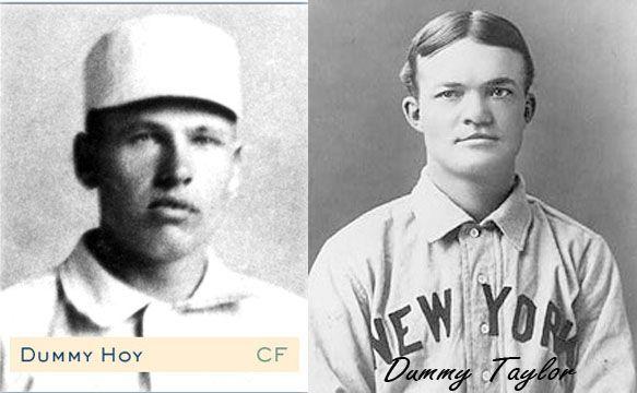 16 de MAYO de 1902.- Por primera vez en la historia del béisbol de las Ligas Mayores única hasta 2014), dos jugadores sordo mudos se enfrentaron, cuando Dummy Hoy abrió la alineación por los Rojos …
