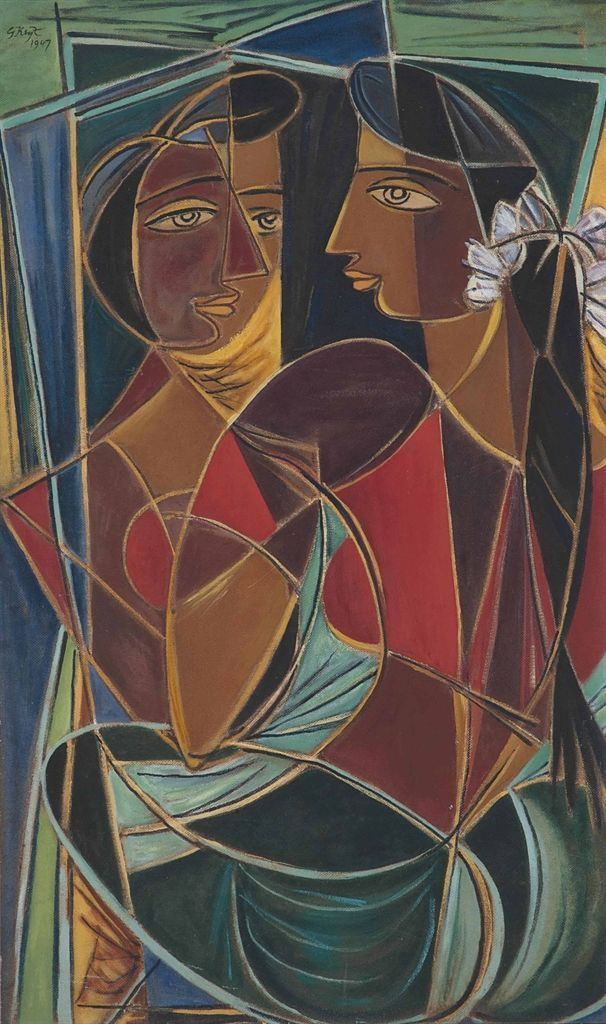GEORGE KEYT (1901-1993) UNTITLED (REFLECTION)