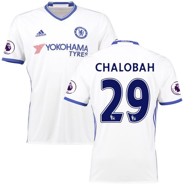 Nathaniel Chalobah Chelsea adidas 2016/17 Third Replica Jersey - White - $86.24