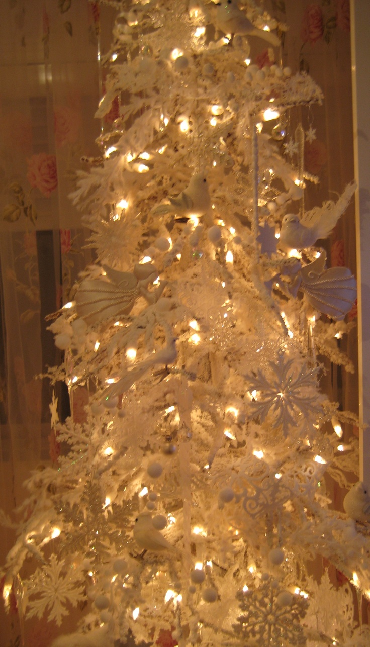 White snow tree in Sitting room