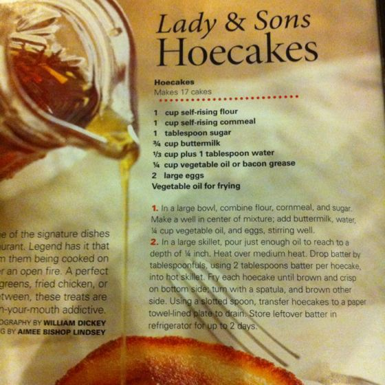 Hoecakes. Lady & Sons. Paula Deen. April 2011 issue