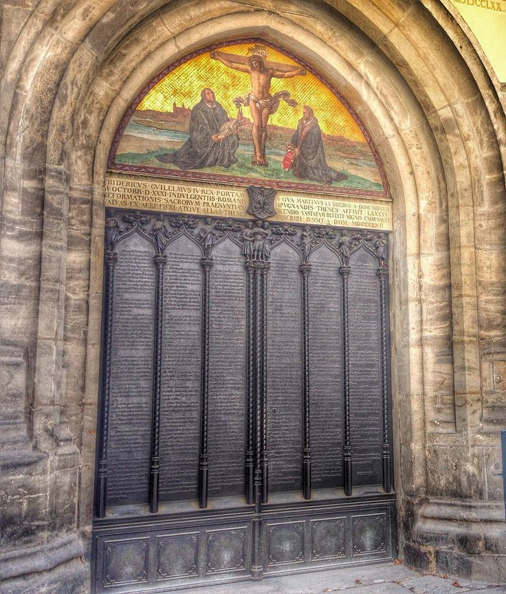Martin Luther's 95 theses - the church door in Wittenberg