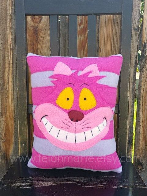 Hey, I found this really awesome Etsy listing at https://www.etsy.com/listing/191174412/cheshire-cat-pillow-alice-in-wonderland