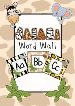Safari Word Wall Labels