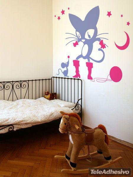 Adesivi Murali El gato con botas