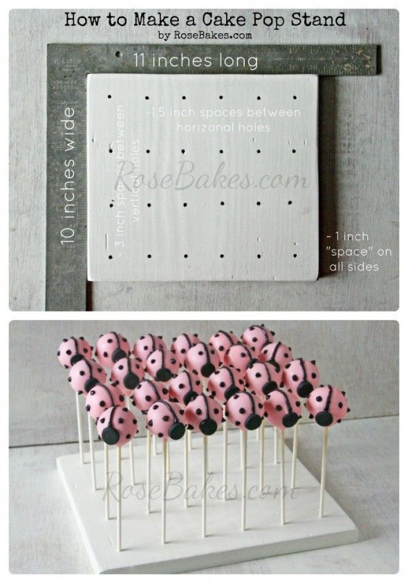 How to Make a Homemade Cake Pop Stand (Easy and Affordable with just a few common tools).
