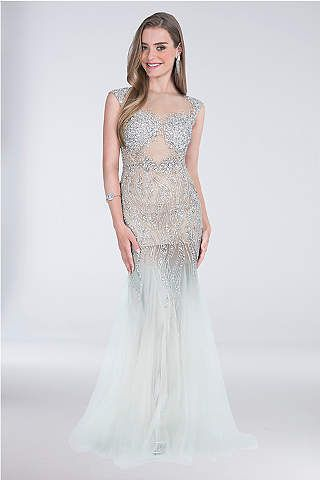 4d01448f12 Long Mermaid  Trumpet Tank Formal Dresses Dress - Get ready to sparkle in  this tulle mermaid dress adorned with sequins and cr…