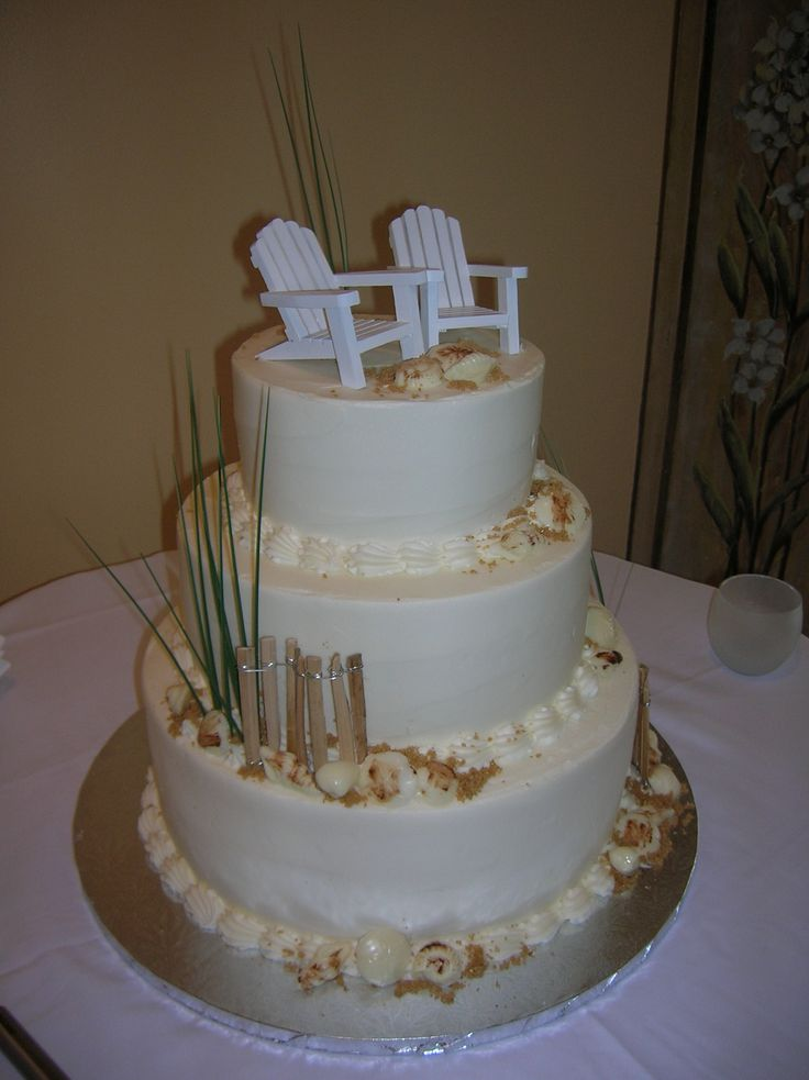White Adirondack Chairs For And Sea Shells For Cakes