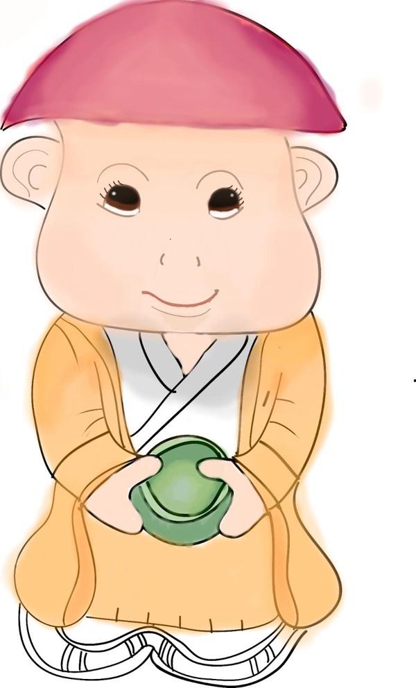 Little chubby Buddha face