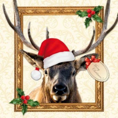 3719 Servilleta decorada Navidad