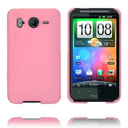 Hard Shell (Vaaleanpunainen) HTC Desire HD Suojakuori