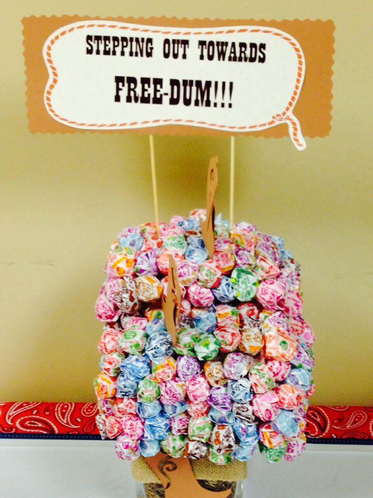 """A """"western theme"""" retirement bouquet using dum-dums ..."""