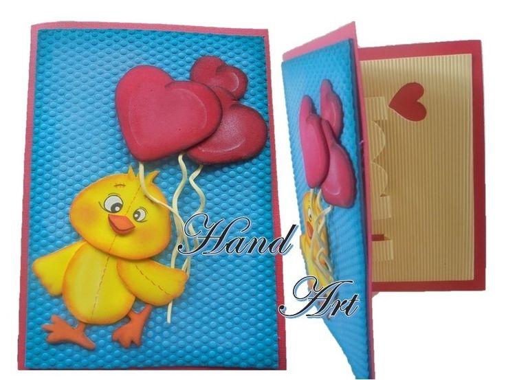 Beautiful handmade Chicken card gift.