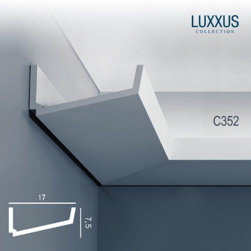 Orac Decor C352 LUXXUS Wand Decken Profilleiste Stuckgesims Zierleiste Eckleiste für indirekte Beleuchtung | 2 Meter