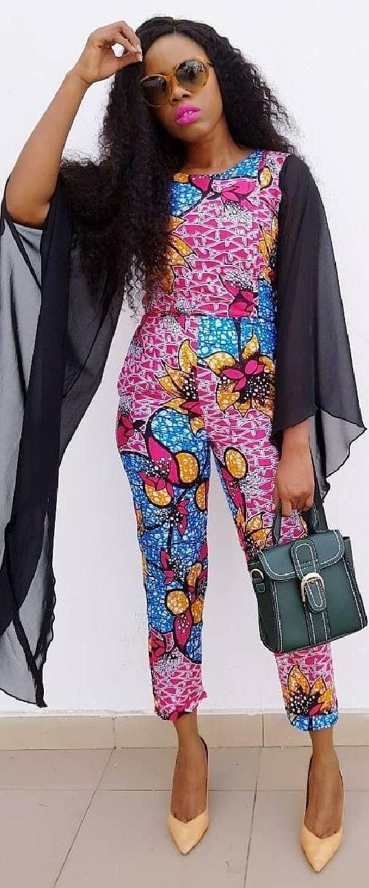 African print jumpsuit, African fashion, Ankara, kitenge, African women dresses, African prints, African men's fashion, Nigerian style, Ghanaian fashion, ntoma, kente styles, African fashion dresses, aso ebi styles, gele, duku, khanga, vêtements africains pour les femmes, krobo beads, xhosa fashion, agbada, west african kaftan, African wear, fashion dresses, asoebi style, african wear for men, mtindo, robes de mode africaine.