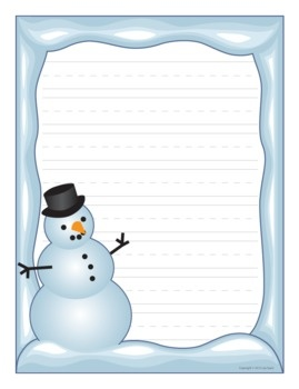 Snowman — fun paper is a great incentive for student writing