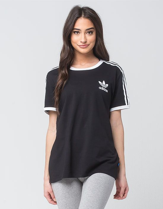 ADIDAS 3 Stripes Womens Tee | Womens shirts, Womens tees ...