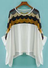 White+Batwing+Sleeve+Polka+Dot+Chiffon+T-Shirt+US$21.87