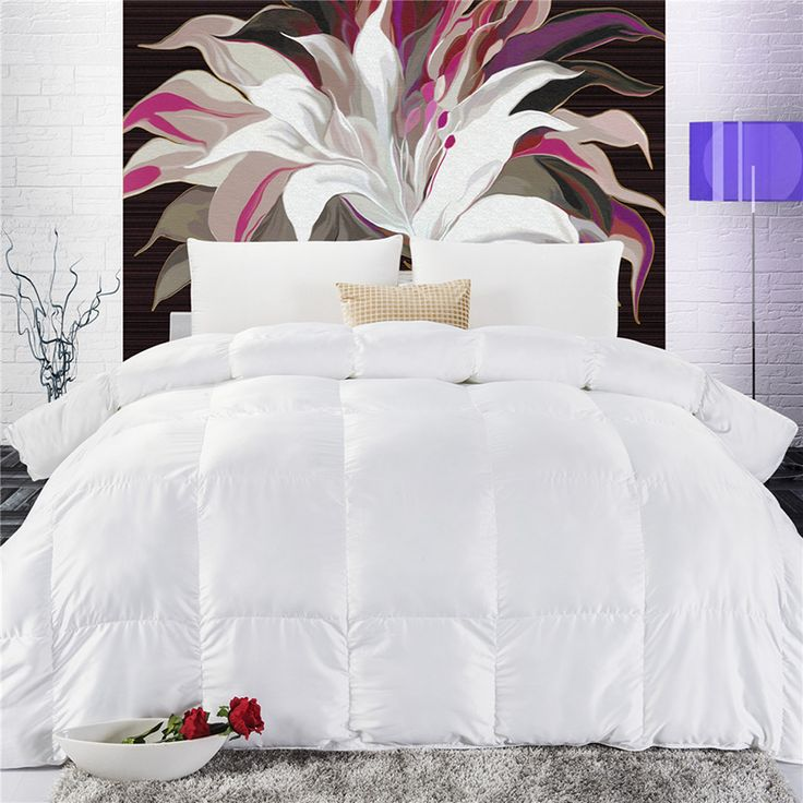 ==> [Free Shipping] Buy Best High Quality Warm Duck Down Duvet Full size /Queen size /King size Solid Color Quilt Winter White Feather Bed Comforter Online with LOWEST Price | 32509890095