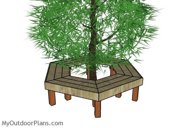 Tree bench plans