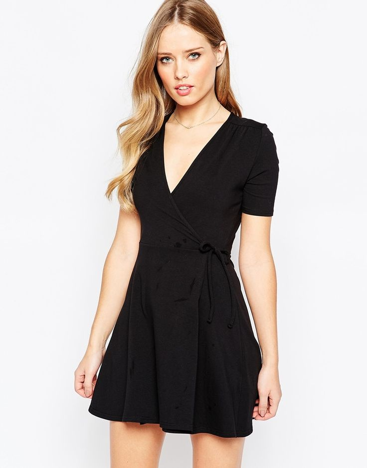 Tea Dress With Wrap Front