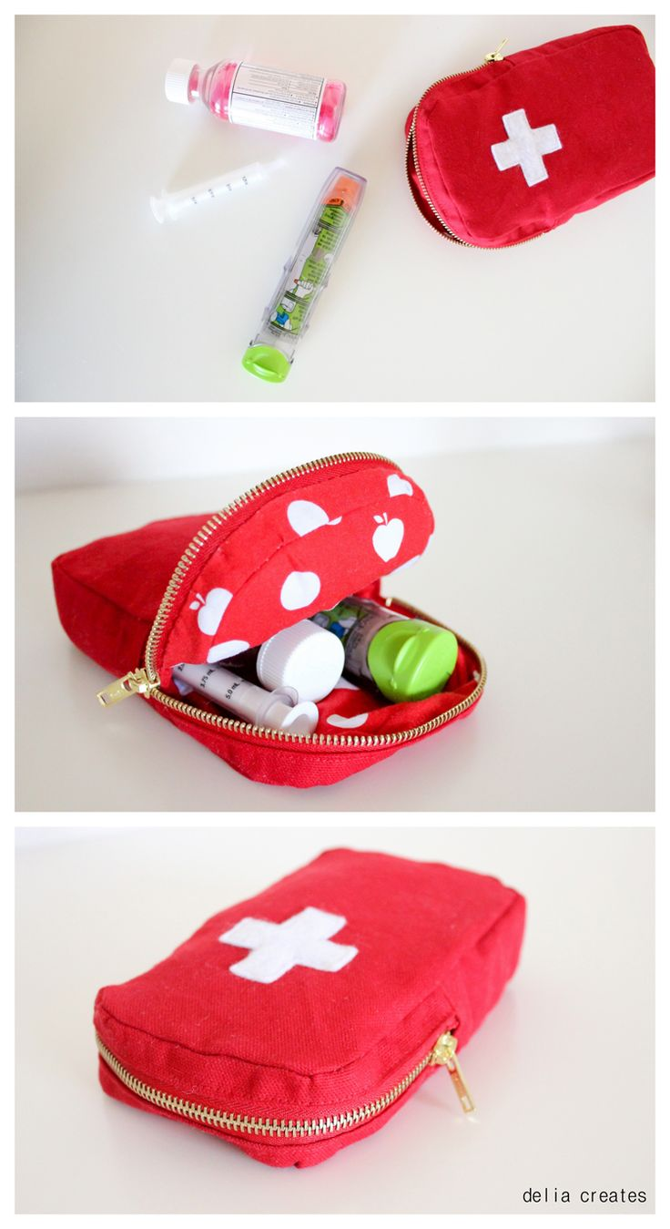 Epi-Pen Case Free Pattern + Tutorial - delia creates ADD a long strap for hiking.