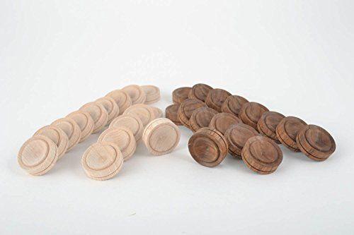 Pions pour Jeu de dames fait main Jeux de table 30 pièces Cadeau original bois: Les pions pour jeu de dames (30 pièces) sont faits en bois…