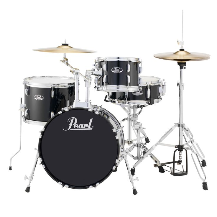 Built to satisfy professionals and beginners, this drum set has a polished finish and rich black pieces. The set comes with stands and clamps in order for fast setup so you can start rocking as soon a