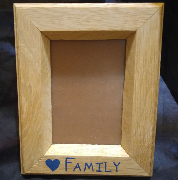 oak picture frame 5x7 frame hand painted family picture frame grandparent gift birthday gift wedding gift family reunion gift