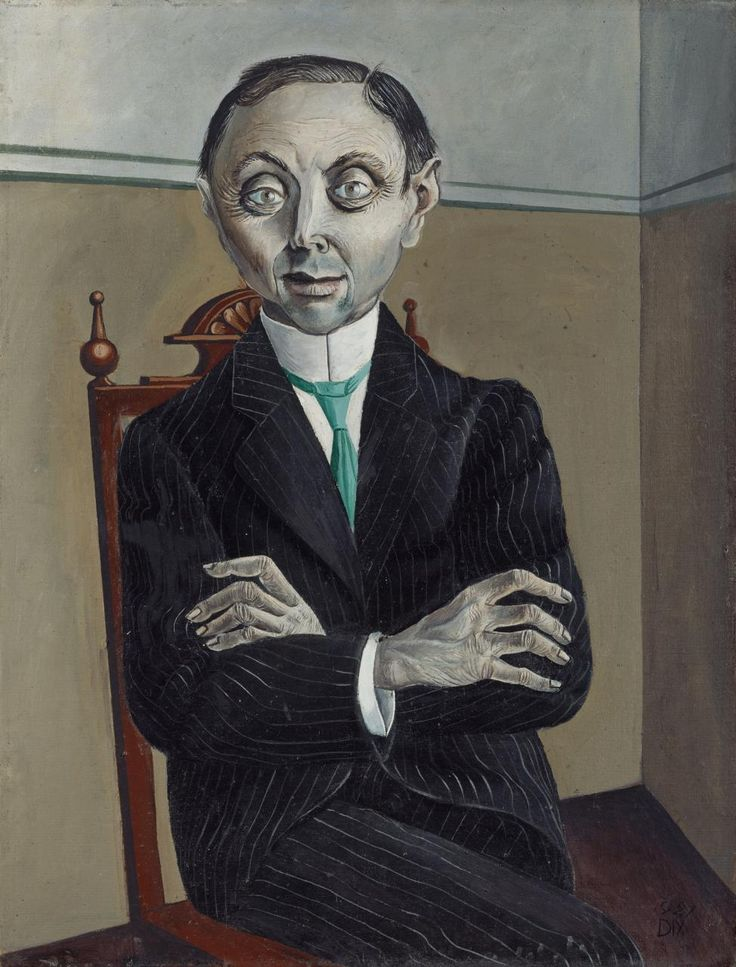 Otto Dix  German 1891-1969 Dr Paul Ferdinand Schmidt 1921