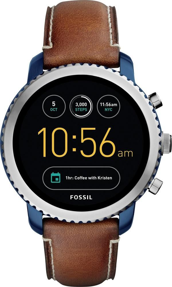 Fossil Q Explorist Gen 3 Smartwatch 46mm Stainless Steel Blue Smart Watch Fossil Watches For Men Mens Watches Affordable