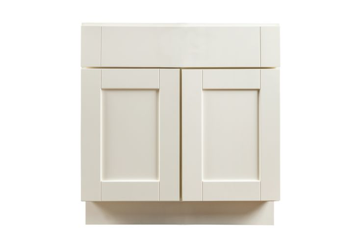 """Bathroom Vanity Cabinets - Craftsman Collection - White / 24""""x21""""x31.5"""" / Shaker Panel / Painted"""