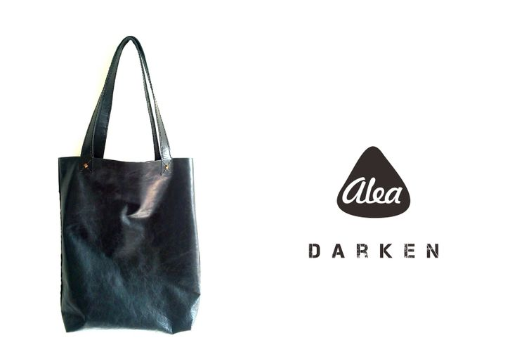 DARKEN by ALEA handstitched leather tote $95.00 payment via paypal