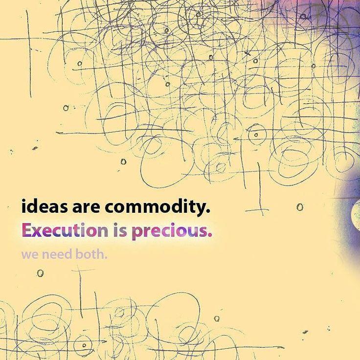 Recycling an old mantra... // #ideas #execution #ideasAreCommodity #StartupIsLife #PencilPattern #CreamOnPurple #digital #wallpaper #mixedMedia #2013