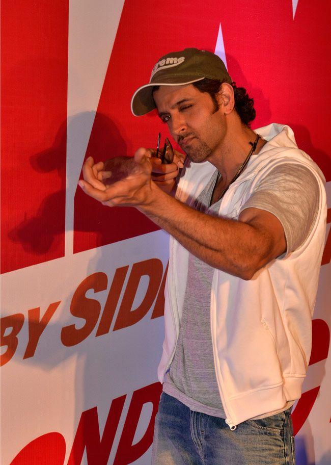 Hrithik Roshan at a screening of 'Bang Bang'.