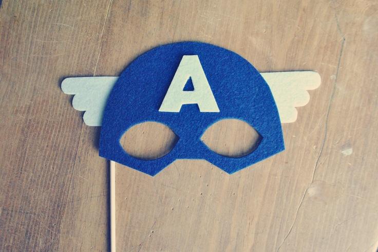 Captain America Photo Prop // Photo Booth Prop // Super Hero Prop // Super Hero Mask for Preston super hero birthday