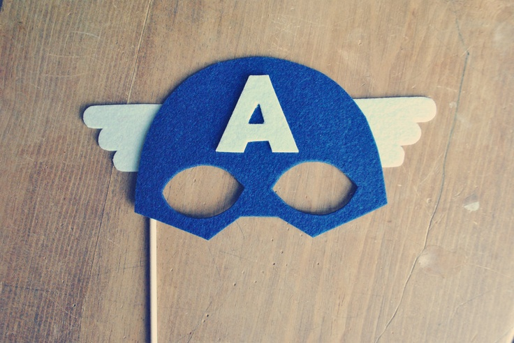 Captain America Photo Prop // Photo Booth Prop // Super Hero Prop // Super Hero Mask for Preston super hero birthday