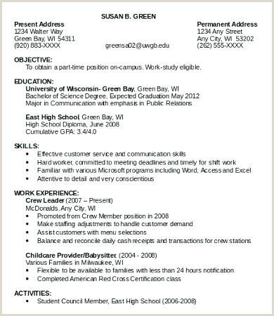 Resume Format For Summer Job Pdf First Job Resume Job Resume Template Job Resume Examples