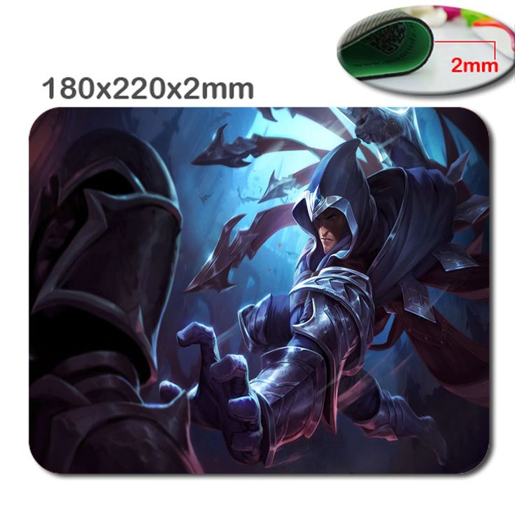 220*180*2mm/290*250*2mm Print  DIY League of legends PC mputer Gaming Mousepad Fabric + Rubber Material - accessory and gift