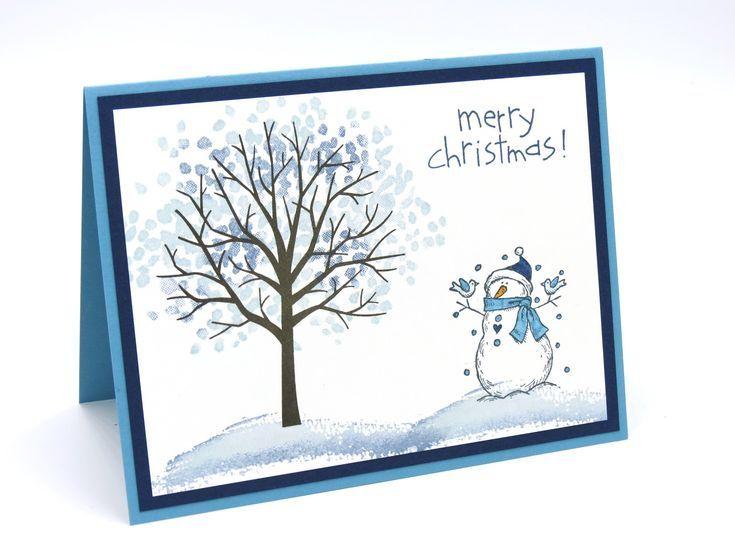 Weihnachtskarte, Stampin-Up-Karten, handgefertigte Karten, handgefertigte Weihnachtskarten, Schneemannkarten, Stampin-Up-Weihnachtskarten