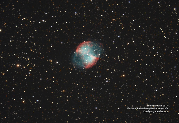 M27 The Dumbbell Nebula by Stardaug. Ontario, Canada