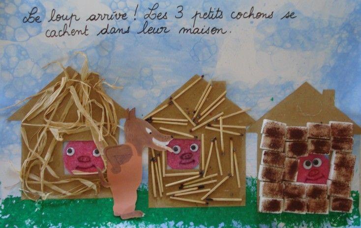 les 3 petits cochons - Animaux - Galerie - Forums-enseignants-du-primaire