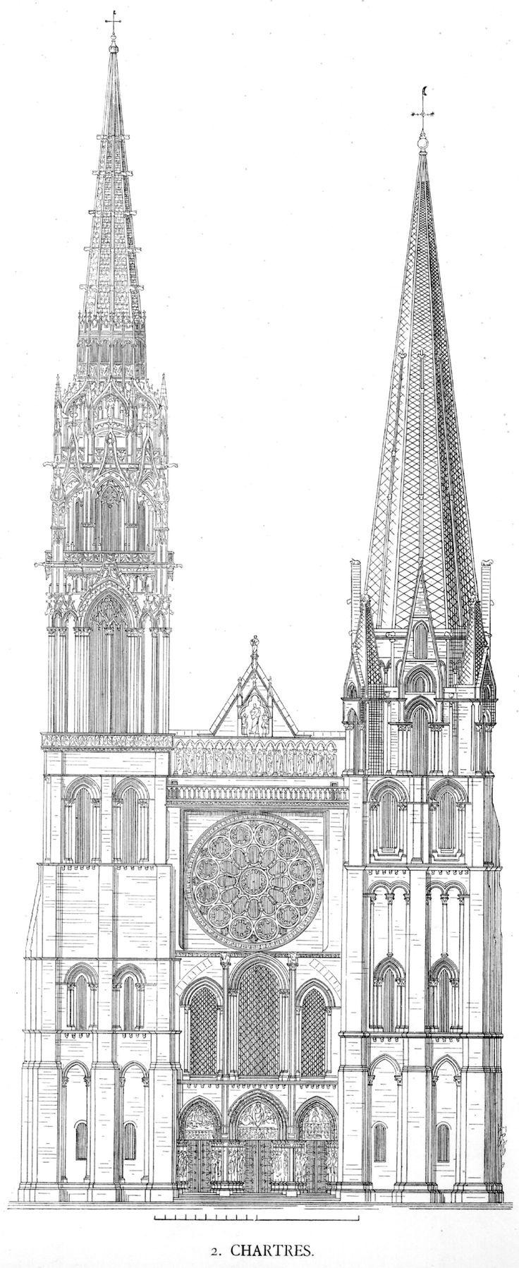 Chartres Cathedral. A arte gótica, foi um período com quase quatro séculos de duração, e ela não constituiu um fenômeno unívoco, mas se expressou em várias manifestações. A arquitetura teve um grande destaque neste período, segundo pesquisas, é a evolução da arquitetura românica. A arquitetura gótica, ficou conhecida por ser encontrada com mais frequência nas grandes catedrais e em outros estabelecimentos eclesiásticos, exercendo grande influência na Europa.