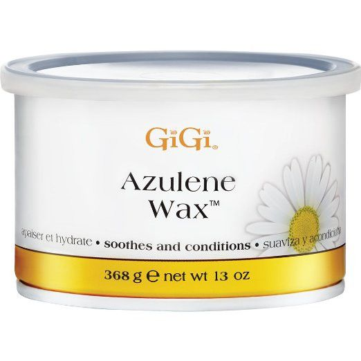 GiGi Azulene Wax 13oz. Formulated with soothing azulene oil Perfect for all skin types, especially sensitive skin
