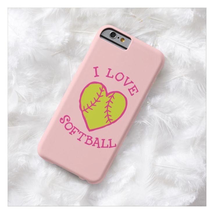 I love softball, baseball wife, iPhone 6 case, iPhone 5 case, Samsung galaxy