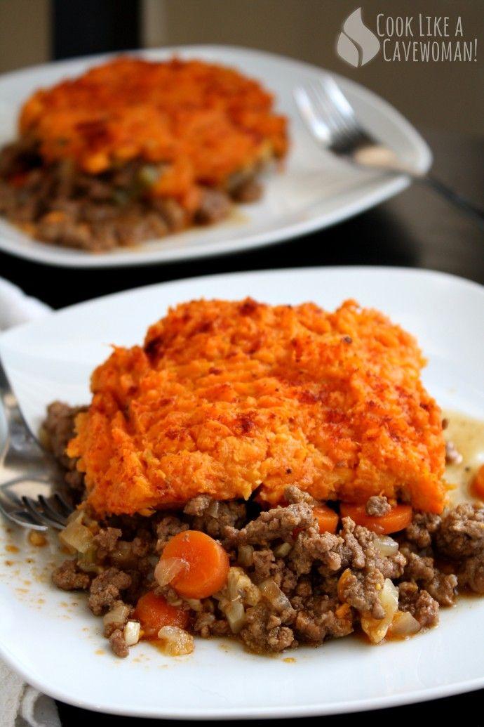 Sweet Potato Shepherd's Pie | Cook Like a Cavewoman! | Easy Paleo Recipes for Feel-Good Eating