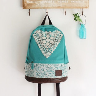 DIY School bag #inspiring #blue #green #diy #crafts #images #bag #fashion #cute #vintage