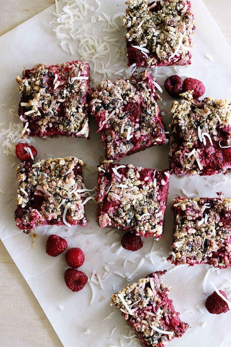 Raspberry Fig Bars Recipe Vegan, refined sugar free, gluten free